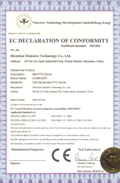 Domenor-EC DECLARATION OF CONFORMITY