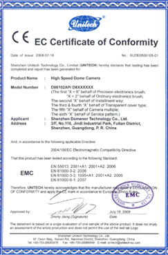 Domenor-EC Certificate of Conformity