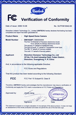 Domenor-Verification of Conformity